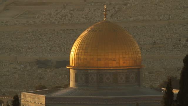 vídeos de stock e filmes b-roll de cúpula da rocha em jerusalém - jerusalém