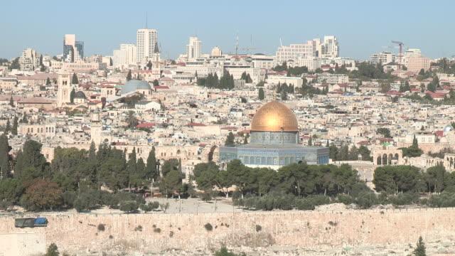 stockvideo's en b-roll-footage met dome of the rock, jerusalem, israel - rotskoepel