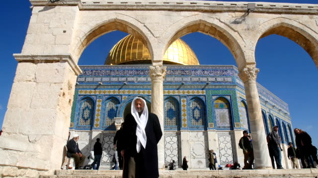 dome of the rock/ jerusalem old city - moschea video stock e b–roll