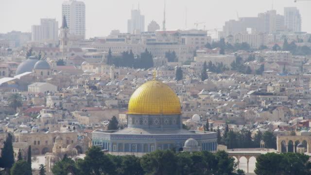 vidéos et rushes de dome of the rock, jerusalem - jérusalem
