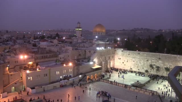 dome of the rock mosque - surrounding wall stock videos & royalty-free footage