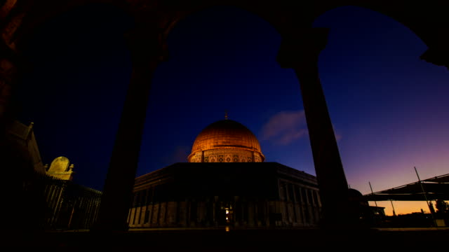 dome of the rock qubbet el sakhra - eid mubarak stock videos & royalty-free footage