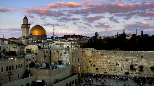vídeos de stock e filmes b-roll de dome of the rock - timelapse - israel