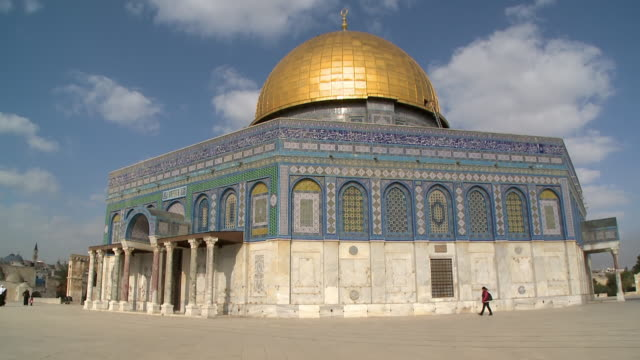 dome of the rock - gerusalemme est video stock e b–roll