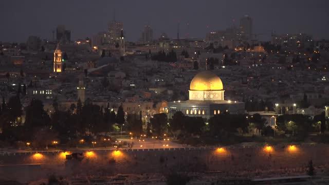 dome on the rock in jerusalem - jerusalem stock videos & royalty-free footage