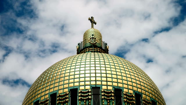dome otto wagner - time lapse - gilded stock videos & royalty-free footage