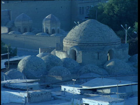 domed rooftops of bukhara uzbekistan - bukhara stock videos and b-roll footage