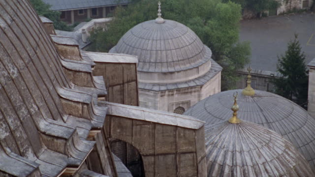 ha ms domes at suleymaniye mosque/ istanbul - suleymaniye mosque stock videos and b-roll footage
