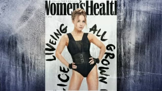 stockvideo's en b-roll-footage met personal trainer alice liveing raises awareness alice liveing on front cover of women's health magazine - magazine