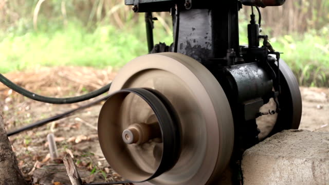 domestic engine for irrigation purpose - pulley stock videos & royalty-free footage