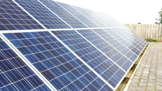 domestic solar panels - solar panel stock videos & royalty-free footage