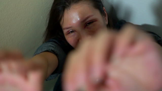 domestic violence homelife - distraught stock videos & royalty-free footage