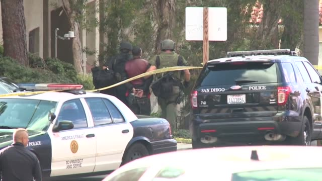 domestic violence suspect allegedly opened fire on officers at his ex-girlfriend's bankers hill apartment before holing up inside for nearly 5 1/2... - holing stock videos & royalty-free footage