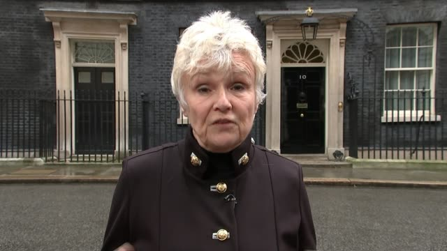 Women's refuges fear funding changes will force many to close ENGLAND London Downing Street EXT Various of actor Dame Julie Walters and another...