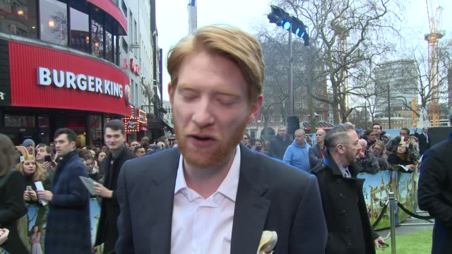 INTERVIEW Domhnall Gleeson on how Mr McGregor is simply misunderstood and how painful wheelbarrow crashes can be at Vue West End on March 11 2018 in...