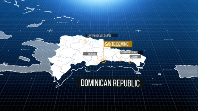 domincan map 4k - international border stock videos and b-roll footage