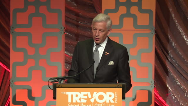 SPEECH Dominic Barton speaks at The Trevor Project TrevorLIVE NY 2018 at Cipriani Wall Street on June 11 2018 in New York City