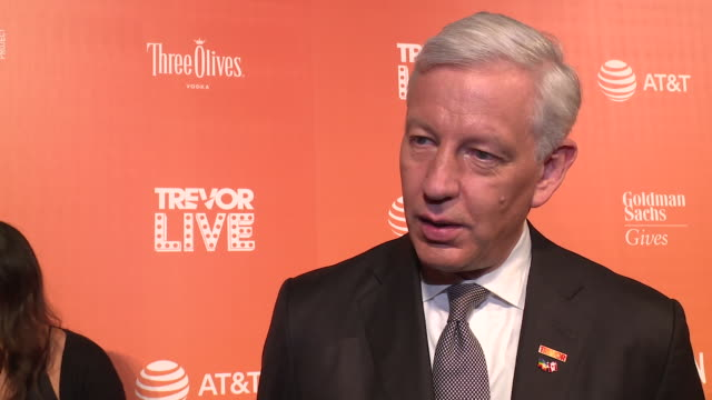 INTERVIEW Dominic Barton talks about the importance of LGBTQ inclusion in businesses at The Trevor Project TrevorLIVE NY 2018 at Cipriani Wall Street...