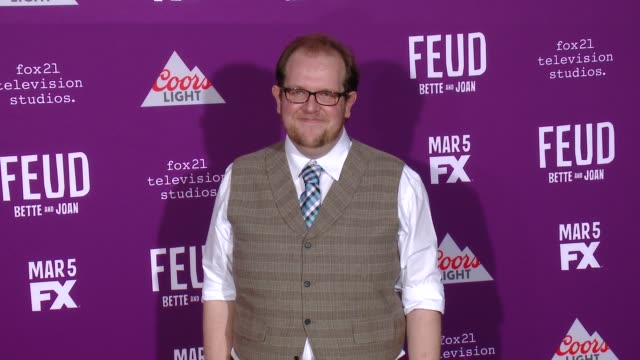 """dominic burgess at premiere of fx network's """"feud: bette and joan"""" in los angeles, ca 3/1/17 - fx network stock videos & royalty-free footage"""