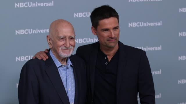 Dominic Chianese and Warren Christie at the NBCUniversal's Upfront Presentation 2018 at Radio City Music Hall on May 14 2018 in New York City