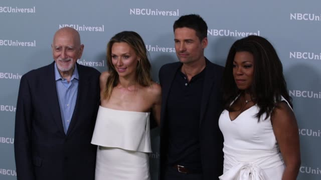 Dominic Chianese Michaela McManus Warren Christie and Lorranine Toussaint at the NBCUniversal's Upfront Presentation 2018 at Radio City Music Hall on...