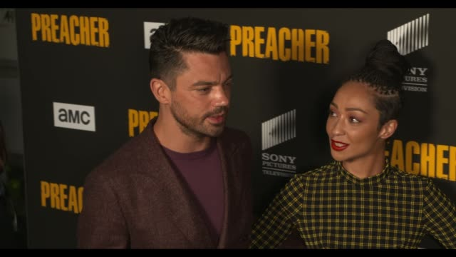 dominic cooper and ruth negga at the preacher season 3 premiere at the hearth and hound on june 14 2018 in los angeles california - preacher stock videos and b-roll footage