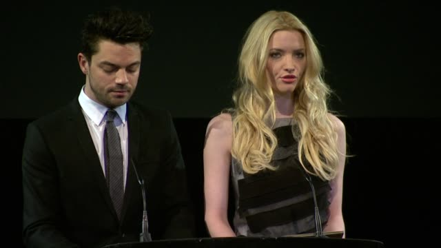 dominic cooper and talulah riley best supporting actor at the orange bafta nominations at london england - best supporting actor stock videos & royalty-free footage