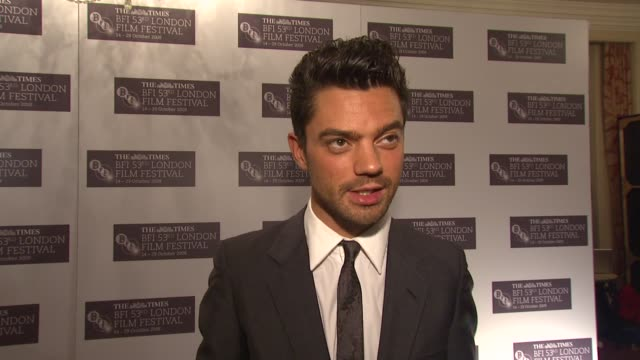 dominic cooper on how everything will be alright despite not being able to pronounce any of the names on how he gets stage fright at awards on how he... - mamma mia stock videos and b-roll footage