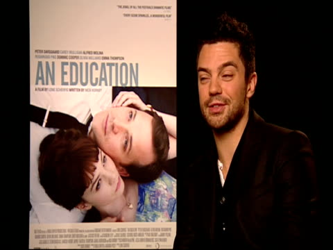 dominic cooper on rosamund pike doing a comic turn in this movie and acting with her at the 59th berlin film festival an education interviews at... - rosamund pike stock videos & royalty-free footage