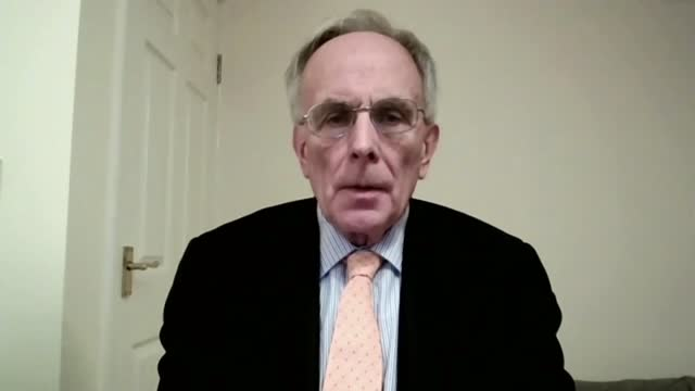 dominic cummings leaves number 10 after days of public infighting; england: int peter bone mp interview via internet sot / cutaway of reporter - cutaway video transition stock videos & royalty-free footage