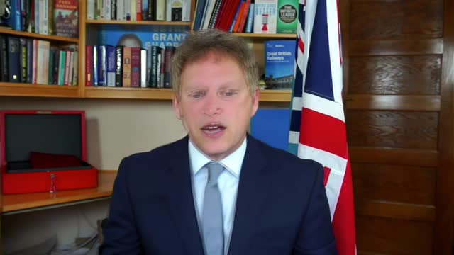 dominic cummings select committee evidence: grant shapps interview; england: london: int grant shapps mp interview via internet sot q: on dominic... - molecule stock videos & royalty-free footage
