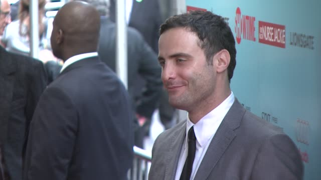 dominic fumusa at the world premiere of showtime's 'nurse jackie' at new york ny - nurse jackie video stock e b–roll
