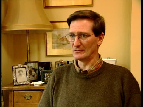 int dominic grieve mp interview sot there needs to be some change in law which allows householders confidence that they can intervene and not dragged... - dominic grieve stock videos and b-roll footage