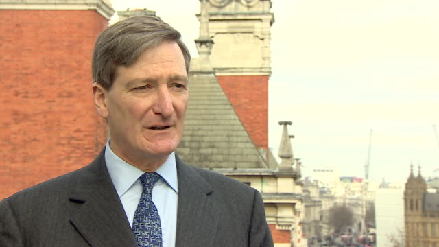 dominic grieve saying he wants the conservatives to act in the national interest and he would resign the whip if he felt they were no longer doing... - dominic grieve stock videos and b-roll footage