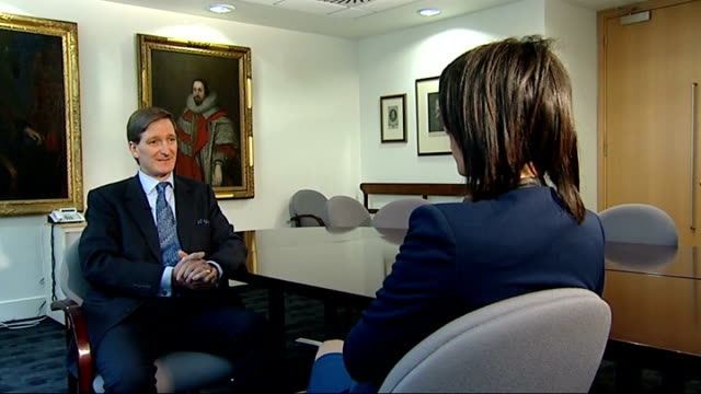 dominic grieve says police should have power to name arrested celebrities london int dominic grieve mp set up shots with reporter / interview sot if... - dominic grieve stock videos and b-roll footage