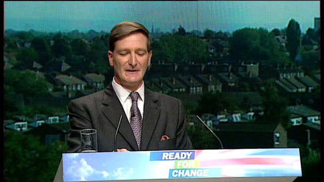 int dominic grieve speaking at conservative party conference - dominic grieve stock videos and b-roll footage