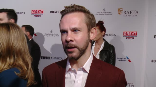 interview dominic monaghan on being at the event and on what he's currently working on at the bafta los angeles awards season tea party at four... - tea party stock videos and b-roll footage