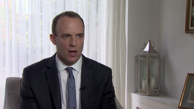 stockvideo's en b-roll-footage met dominic raab resignation interview says a labour government under jeremy corbyn would be catastrophic - parlementslid