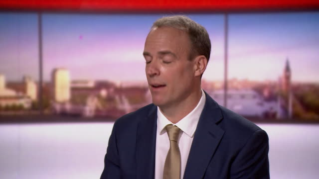 dominic raab saying he has now concluded his review of measures that may be taken in regards to china - global business stock videos & royalty-free footage