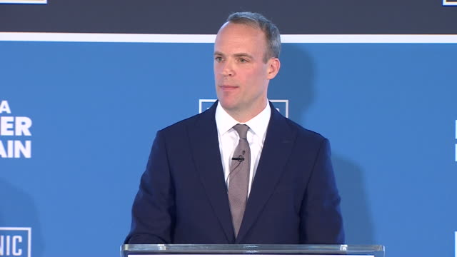 Dominic Raab saying I am the conviction Brexiteer with the plan discipline and focus to lead us out by the end of October as he launches his...
