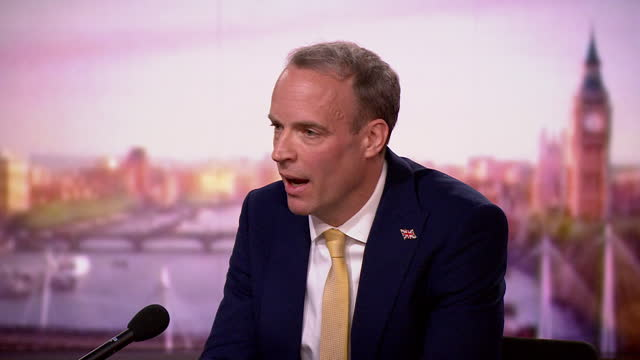 "dominic raab saying that nazanin zaghari-ratcliffe is being used as ""leverage"" by the iranian authorities - conservative party uk stock videos & royalty-free footage"