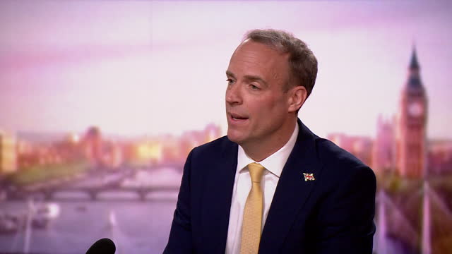 dominic raab saying the ending of coronavirus restrictions on 21st june will be driven by science - information medium stock videos & royalty-free footage