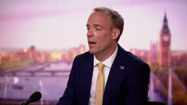 dominic raab saying the government are looking at ways to assist india with the coronavirus crisis - india politics stock videos & royalty-free footage