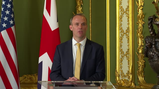 "dominic raab saying the government is ""not complacent for a second about the threat posed by russia when it comes to cyber"" - report produced segment stock videos & royalty-free footage"