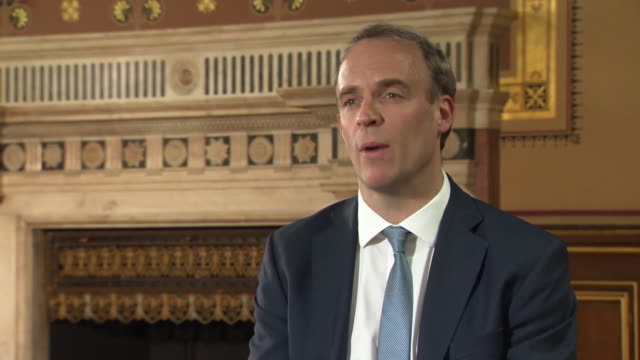 dominic raab saying there is an issue of trust with china particularly in regards to what has been seen in hong kong - global business stock videos & royalty-free footage