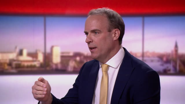 dominic raab saying we need to take a surefooted step forward that protects life but also preserves our way of life in regards to ending coronavirus... - the end stock videos & royalty-free footage