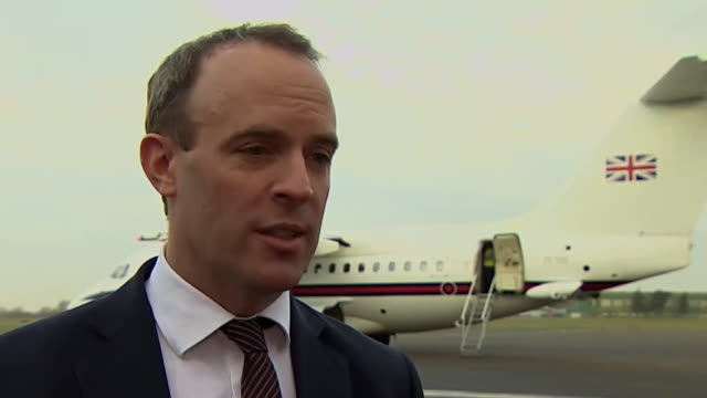 dominic raab there is a broader issue for the safety of british citizens travelling abroad after an unnamed british female was found guilty of lying... - reclining stock videos & royalty-free footage
