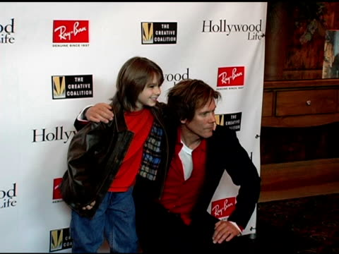 Dominic Scott Kay and Kevin Bacon at the Kevin Bacon Reception of the 2005 RayBan Visionary Award Hosted by Creative Coalition and Hollywood Life at...