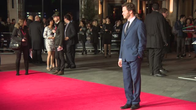 dominic west at 'testament of youth' centerpiece gala screening at odeon leicester square on october 14 2014 in london england - odeon leicester square stock videos and b-roll footage