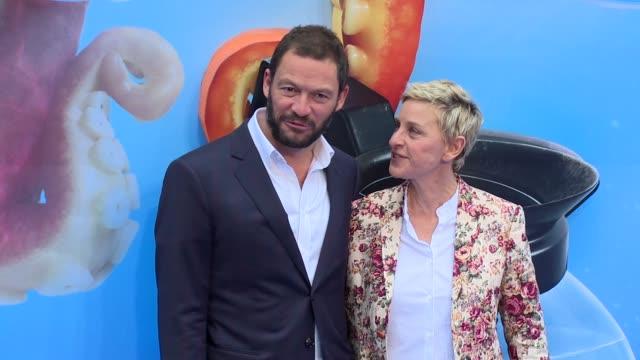 Dominic West Ellen DeGeneres on July 10 2016 in London England